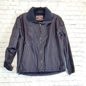 Women's Black athleisure jacket / sz Med.